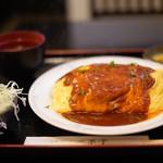 二葉亭 - 肉ごろごろオムライス☆