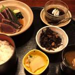 土佐料理 祢保希 - 鰹たたき定食