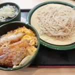 ゆで太郎 - ミニかつ丼セット