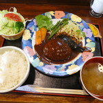 かきの木 - 料理写真:ハンバーグステーキランチ800円