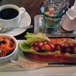 らんぱだII - ホットドッグ+コーヒー