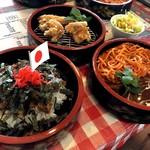 ウオカネ - 料理写真:三段おけで夏を乗り切ろう(ミニミニサラダ付き)1250円