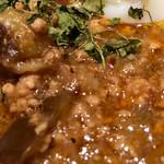 アーユル ベイブ カレー - ポークミンチと茄子のカレー