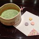バロン - [料理] 抹茶 & 干菓子 セット全景♪W