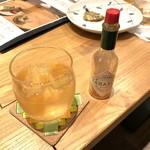BAR平松 - とうがらし梅酒+タバスコブースト