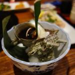 四季の味処 髭ダルマ - サザエの壺焼き。 1個500円~だったかなと思います。