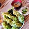 ぶろっこりー - 料理写真:緑の天丼 980円