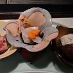 ステーキ&しゃぶしゃぶ ふじた - [料理] 前菜 3種盛り 全景♪W