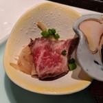 ステーキ&しゃぶしゃぶ ふじた - [料理] 前菜 木耳 & ローストビーフ アップ♪w