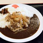 松屋 - 料理写真:松牛カレー(オリジナルカレー+牛皿並盛)