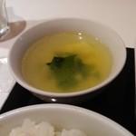 中華ダイニングNAO - スープ。