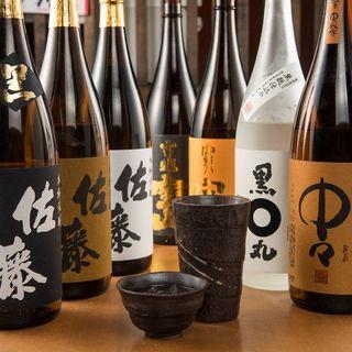 豊富な品揃えが自慢のドリンクメニュー☆日本酒・焼酎も充実