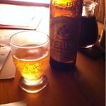 炉端 五代目 よだれ屋 - ビールは全部瓶でした