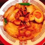 焼豚ラーメン 三條 - 焼豚ラーメンニンニクトッピング