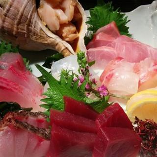 """毎朝仕入れる季節の鮮魚◆旨味・彩り・食感を""""刺し盛り""""で是非"""
