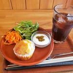 リュックカフェ - モーニングマフィンセット 500円