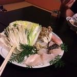 11300452 - クエ鍋セット(食べかけ(笑))