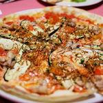 ラ クレアトゥーラ - 豚バラ肉とナス、揚げゴボウのピッツァランチセット(1250円)