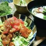 ondo - ランチ〈タコライスとソーキそばのハーフ&ハーフ定食〉