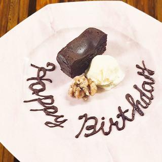 《ご予約限定》記念日や誕生日にデザートプレートも!