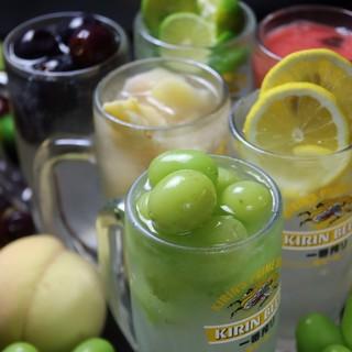 【飲み放題】岡山フルーツの自家製屋台サワーや岡山地酒もOK!