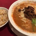 龍鳳 - 挽肉担々麺ミニ炒飯セット