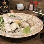 ダイフク - 別注鱧の3点盛り(2019.8.6)