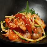 鮮魚とキムチのユッケ