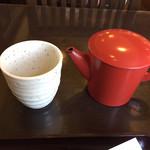 四季彩館ひだなん - 蕎麦屋には欠かせない蕎麦湯!