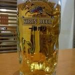 嘉文 名駅店 - まずは、これからでしょう。 生ビールでぷふぁ~しましょう。 グビッ、グビッ、ぷふぁ~。 旨い、最高!!
