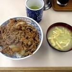 牛丼専門サンボ - 牛丼大盛・みそ汁