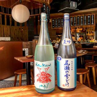 旬の日本酒をいち早くご提供