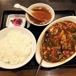 中国料理 山久 - マーボー茄子定食