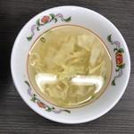 餃子の王将 - 玉子スープ