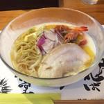 甲殻堂 - 料理写真:海老薫る冷製ポタージュの福来そば大盛り
