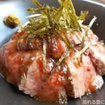 酒食 オーグ - 自家製ローストビーフ丼