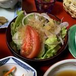 御食事処 朱鷺 - サラダ
