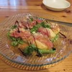 デンズキッチン - 白鳳桃と生ハムのサラダ仕立て