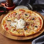 ビスマルクピザ Bacon & Soft Boiled Egg Pizza