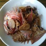 富士市公設地方卸売市場 - 料理写真:下田産金目鯛の煮付け(自作)