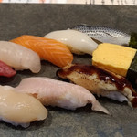 鮨と肴と日本酒 涛〃 - おまかせ盛 10貫 1499円