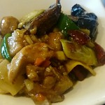 113051417 - 茄子と鶏もも肉の自家製ピクルス酸辣炒め