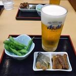 一會庵 - 料理写真:会津セット(生ビール)