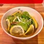 らぁ麺 レモン&フロマージュ GINZA - レモンらぁ麺780円+税