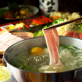 ご宴会に名物『柚子炊きしゃぶしゃぶ』をコースに!