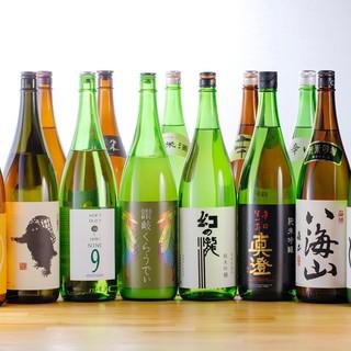 日本酒は定番から銘柄・珍しい物まで。ワインも豊富!