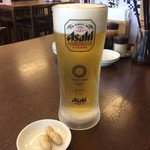 阿佐 - ドリンク写真:大ジョッキでカンパチ☆ この美味しいこと 美味しいこと