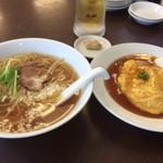 阿佐 - ミニ天津飯・中華そばのセット 絶賛したいくらい美味しい