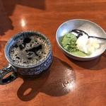 風にふかれて - アイスコーヒー・本日のジェラート(バニラ・抹茶)