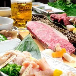 【ハレの日のご宴会に】自慢の熟成肉のコースは3,500円~